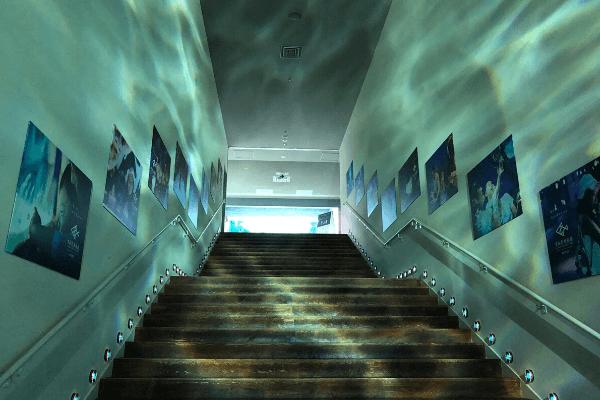 すみだ水族館入り口の階段