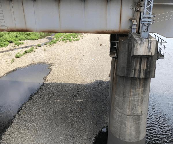 二子玉川から見る多摩川
