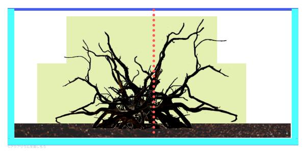 凸構図レイアウトの説明図